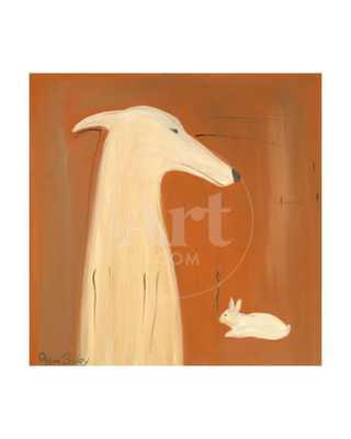 Greyhound and Rabbit - art.com