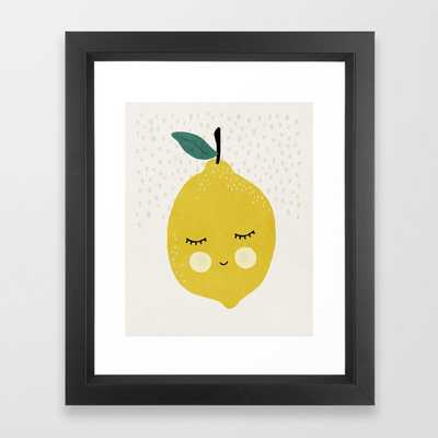 Lemon, Mid century modern kids wall art, Nursery room Framed Art Print - Society6