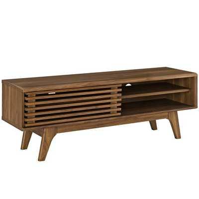 "Render 48"" TV Stand in Walnut - Modway Furniture"