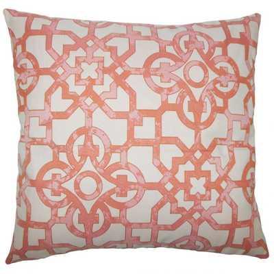 """GARRICK GEOMETRIC PILLOW GERANIUM / 20"""" x 20"""" / Pillow Cover Only - Linen & Seam"""
