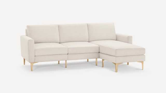 Block Nomad Sofa Sectional - Ivory - Brass - Burrow