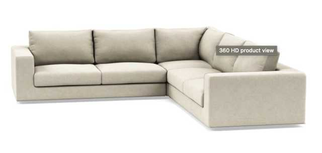 Walters Corner Sectional with Flax Performance Crossweave - Interior Define