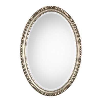 Oval Metallic Accent Mirror - Birch Lane