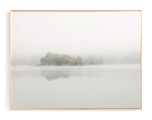 The Island - Natural Raw Wood Canvas Frame - 40x30 - Minted