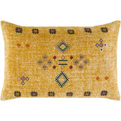"Sierra Pillow, 13""x 20"", Mustard - Roam Common"