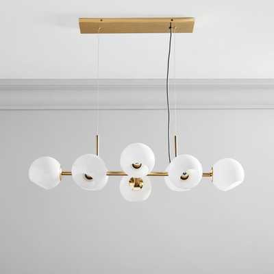 Staggered Glass 8-Light Chandelier - Milk - West Elm