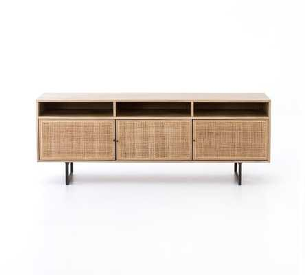 Dolores Cane Media Console, Natural - Pottery Barn