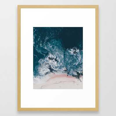 I love the sea - written on the beach Framed Art Print by Ingz - Society6