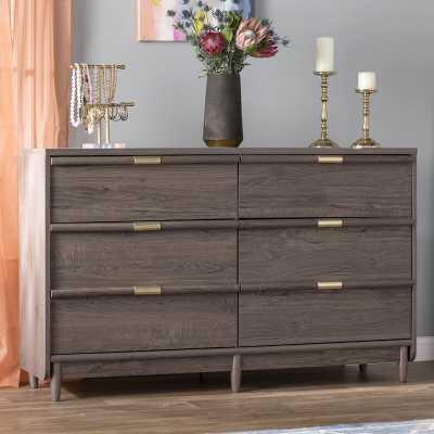 Broadridge 6 Drawer Double Dresser - Wayfair