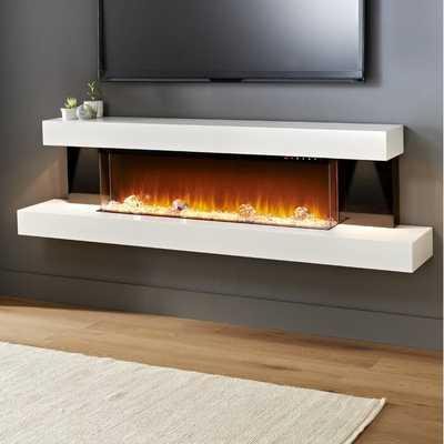 Tanessa Gloss Sides Wall Mounted Electric Fireplace - Wayfair