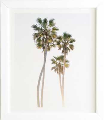 CALIFORNIA PALMS White Framed Wall Art - Wander Print Co.