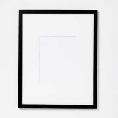Wood Gallery Frames - Oversized Mat_black - West Elm