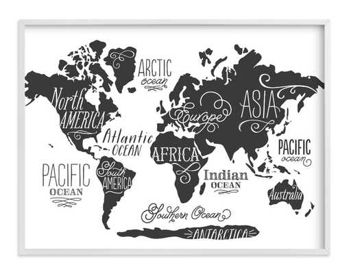 Whimsical World Map - Minted