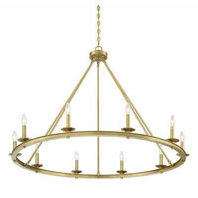 Poynor 10-Light Candle Style Wagon Wheel Chandelier - Wayfair