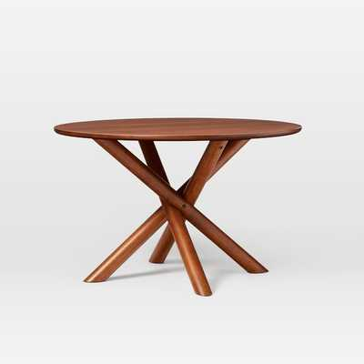 "Jax 48"" Round Dining Table, Walnut - West Elm"
