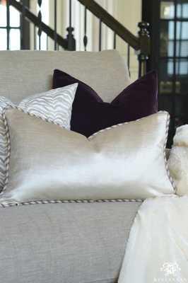 """Glisten Velvet Pillow Cover - Champagne - 12"""" x 20"""" - Insert not included - Willa Skye"""