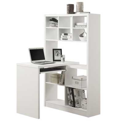 2-Piece White Office Suite - Home Depot