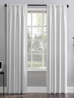 """Solid Max Blackout Thermal Rod Pocket Single Curtain Panel - white - 40"""" x 96"""" - Wayfair"""