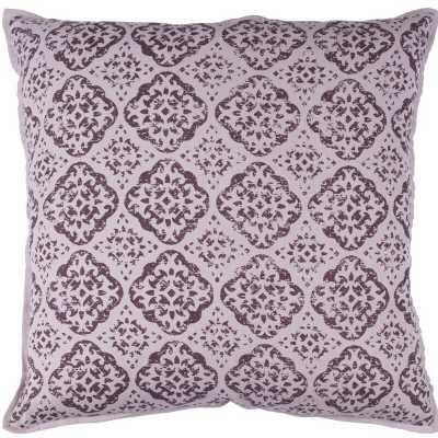 """Kody Cotton Throw Pillow /20"""" x 20"""" / Mauve - Wayfair"""