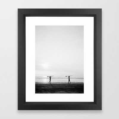Surfer Girl | Wanderlust photo print | Coastal photography wall art surfboard. Framed Art Print - Society6