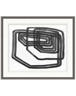 LINED ABSTRACT 4 Framed Art - McGee & Co.