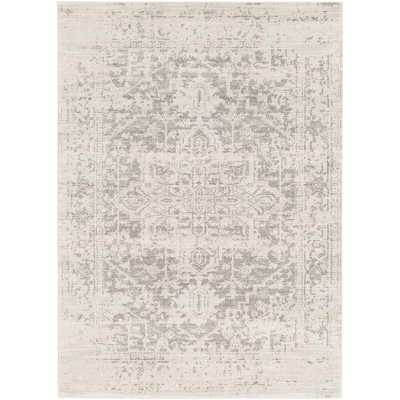 "Hillsby Gray/Beige Area Rug, 6'7"" x 9' - Wayfair"