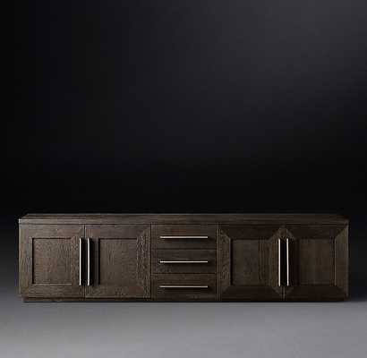 MACHINTO PANEL 4-DOOR MEDIA CONSOLE WITH DRAWERS - RH