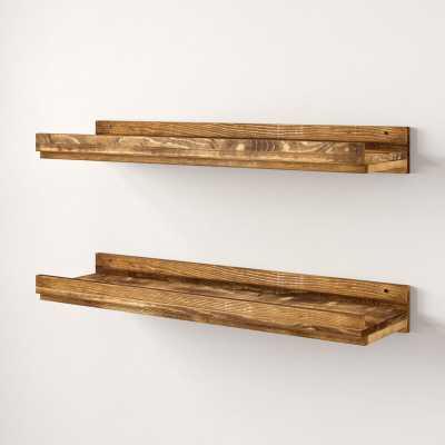 Tishie Floating 2 Pieces Wall Shelf Set (Set of 2) - AllModern