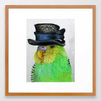 Parakeet Hat Parade #2 Roz Framed Art Print - Society6
