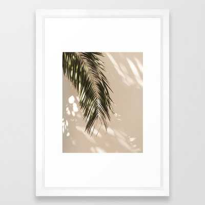 "tropical palm leaves - 15"" x 21"" - vector white - Society6"