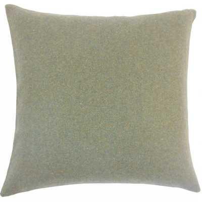 Eire Solid Pillow - 22x22, Poly Insert - Linen & Seam