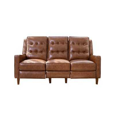 Mary Genuine Leather Reclining 73'' Square Arm Sofa - Wayfair