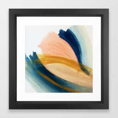 Slow as the Mississippi - Acrylic Abstract with pink, blue and brown - Vector Black - Society6