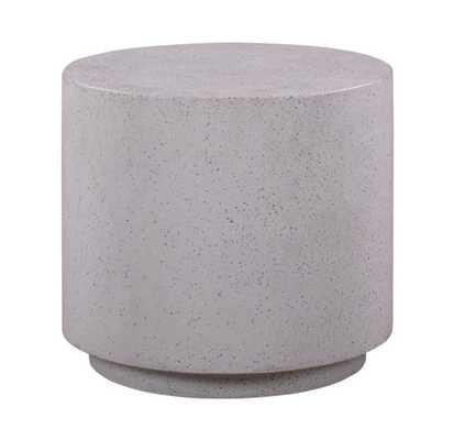 Maci Light Speckled Side Table - Maren Home