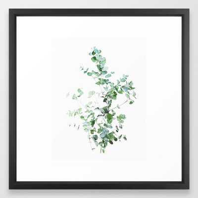 """Botanical Framed Art Print White Frame, 22"""" x 22"""", Vector black frame - Society6"""