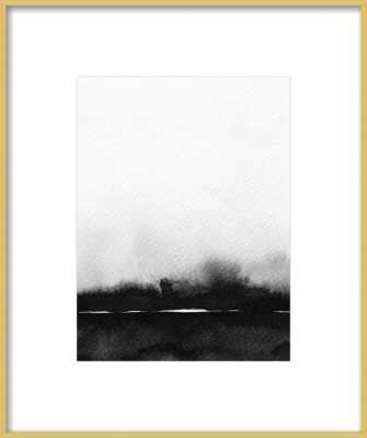 Abstract Landscape No. 1 with Gold Frame - Artfully Walls