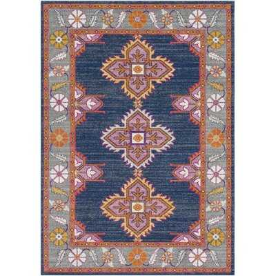 Arteaga Navy/Gray Area Rug - Wayfair