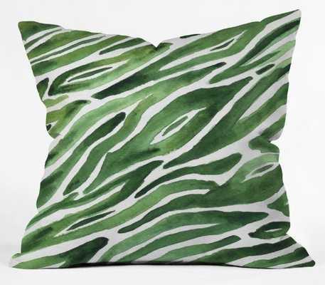 Green Flow Throw Pillow 20x20 with insert - Wander Print Co.