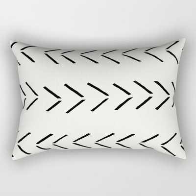 "white arrow mudcloth chevron Rectangular Pillow - Medium (20"" X 14"") - Society6"