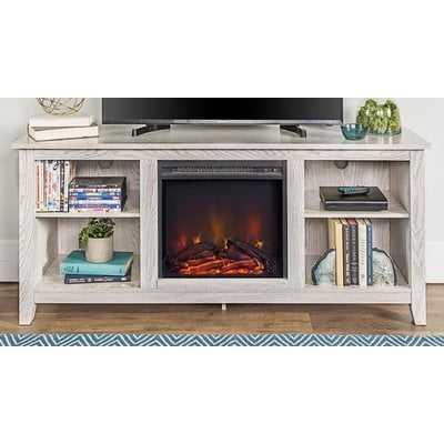 "Sunbury 53"" TV Stand with Electric Fireplace - Wayfair"