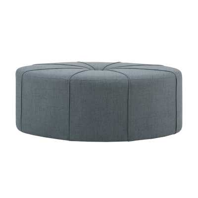 Telly Oval Tufted Cocktail Ottoman, Blue - Wayfair