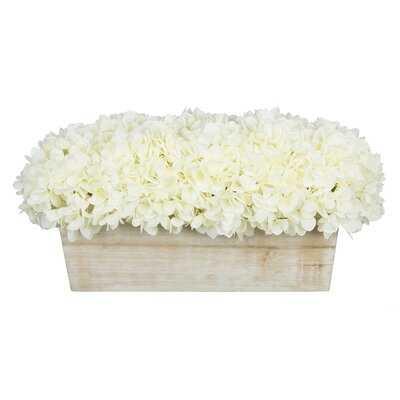 Hydrangeas Floral Arrangement in Planter - Wayfair