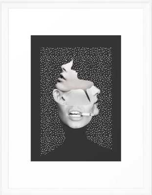 collage art / Faces 2 Framed Art Print - with scoop white frame - Society6