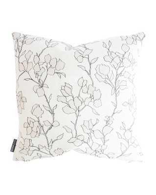 "BLAIR SKETCHED FLORAL PILLOW COVER WITHOUT INSERT, 24"" x 24"" - McGee & Co."