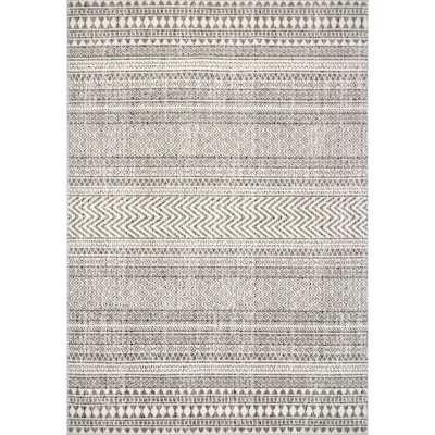 Scudder Southwestern Gray Area Rug, Rectangle 10' x 14' - Wayfair