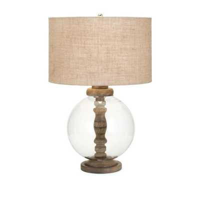 Mahin Wood and Glass Lamp - Mercer Collection