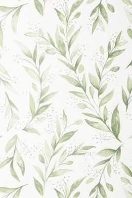 Magnolia Home Olive Branch Wallpaper - Anthropologie