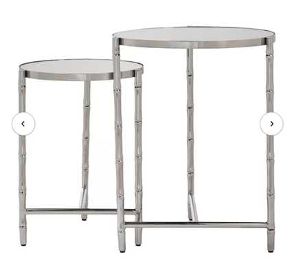 Conlon Bamboo-look Stainless Steel 2 Piece Nesting Tables; Silver - Wayfair