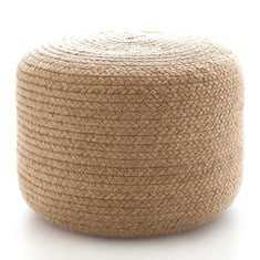Braided Natural Indoor/Outdoor Pouf - Large - Dash and Albert