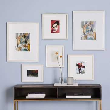 Gallery Frames, White, Set of 6 - West Elm